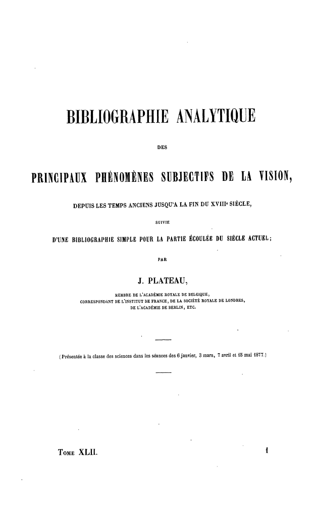 "Capa da ""Bibliographie Analytique""."