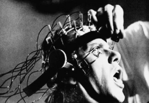 "Cena do filme ""Laranja Mecânica"" de Stanley Kubrick, 1971"