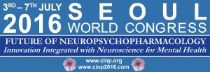 CINP Seoul 2016 Banner